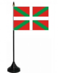 Basque Desk / Table Flag with plastic stand and base.